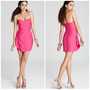 Parker | Strapless with Ruched Side Detail Pink